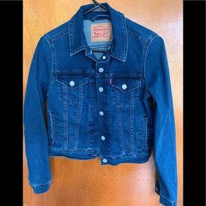 Levi's denim jacket dark blue size small